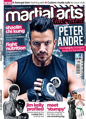 Peter Andre on cover of Martial Arts Illustrated